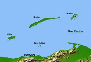 Carte des Bay Islands
