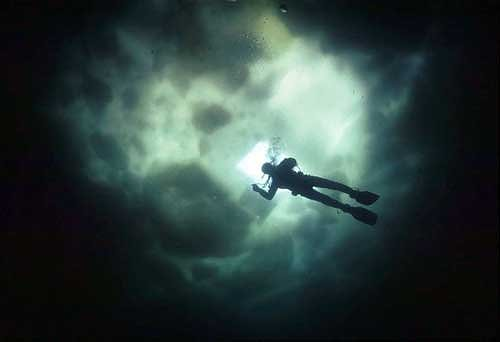 la plongée sous la glace