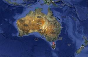 carte australie